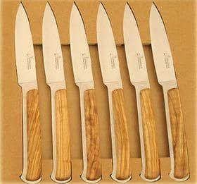 couteau de table d'yssingeaux en bois d'olivier