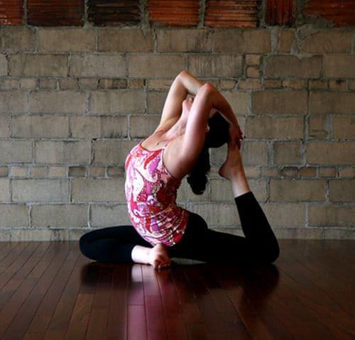 Posture du pigeon royal Yoga