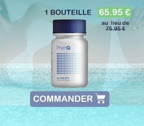 Prix d'une bouteille de PhenQ, 65,95€